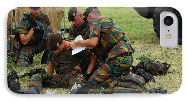 Soldiers Of A Belgian Infantry Unit Phone Case by Luc De Jaeger