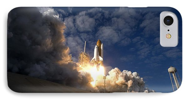 Space Shuttle Atlantis Lifts Phone Case by Stocktrek Images