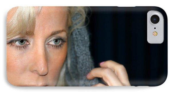 Blond Woman Phone Case by Henrik Lehnerer