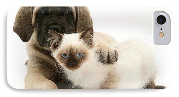 Puppy And Kitten Phone Case by Jane Burton