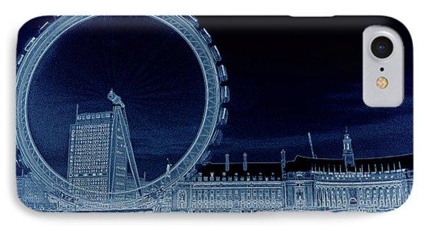 London Eye Art Phone Case by David Pyatt