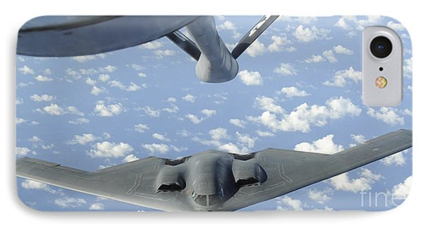 A B-2 Spirit Approaches The Refueling Phone Case by Stocktrek Images