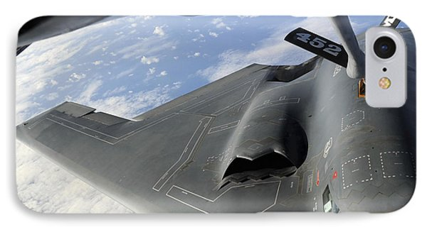 A B-2 Spirit Receives Fuel Phone Case by Stocktrek Images