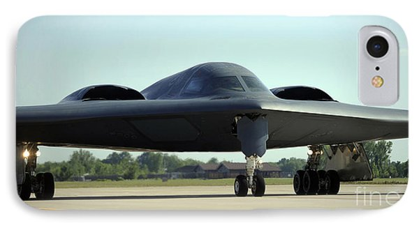 A B-2 Spirit Taxis Onto The Flightline Phone Case by Stocktrek Images