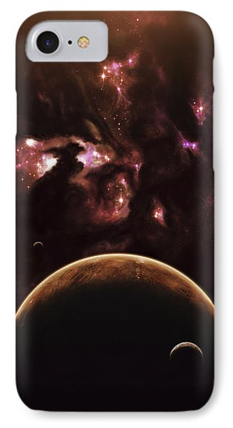 A Barren World Passes In Front Phone Case by Kevin Lafin