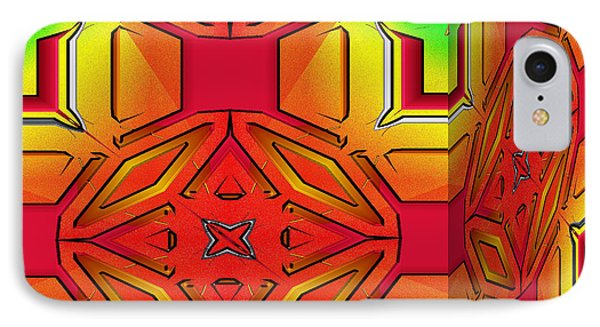 IPhone Case featuring the digital art A Beautiful Cube by Mario Carini