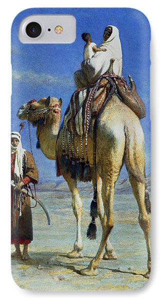 A Bedoueen Family In Wady Mousa Syrian Desert IPhone Case by Carl Haag