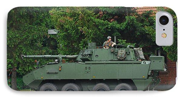 A Belgian Army Piranha IIic Phone Case by Luc De Jaeger