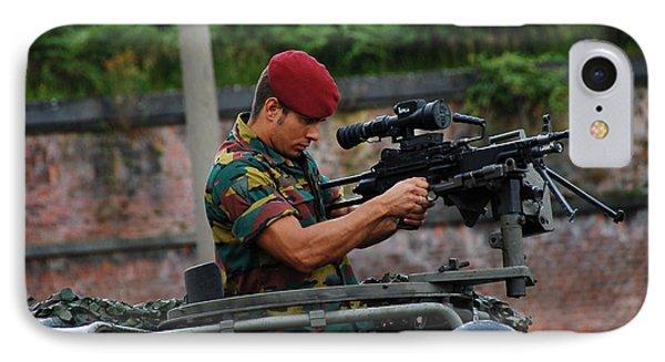 A Belgian Paratrooper Of The 1st Phone Case by Luc De Jaeger