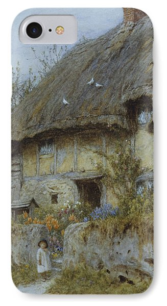 A Berkshire Cottage  Phone Case by Helen Allingham