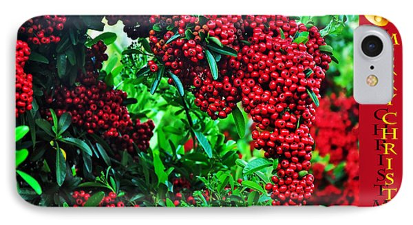 A Berry Merry Christmas Phone Case by Kaye Menner