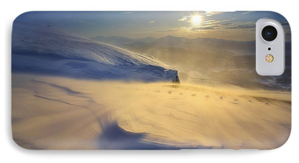 A Blizzard On Toviktinden Mountain Phone Case by Arild Heitmann