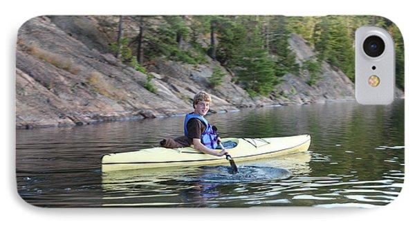 A Boy Kayaking IPhone Case