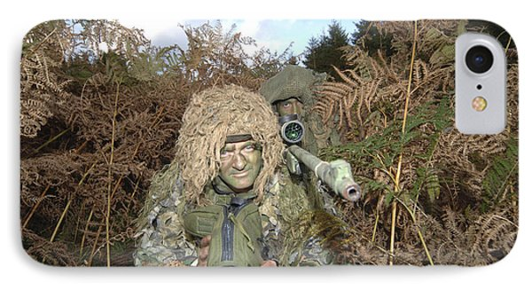 A British Army Sniper Team Dressed Phone Case by Andrew Chittock