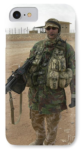 A British Army Soldier Carries IPhone Case by Andrew Chittock