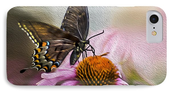 A Butterfly's Magical Moment IPhone Case