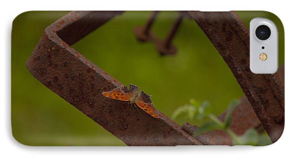 A Butterflys Resting Place Phone Case by Karol Livote