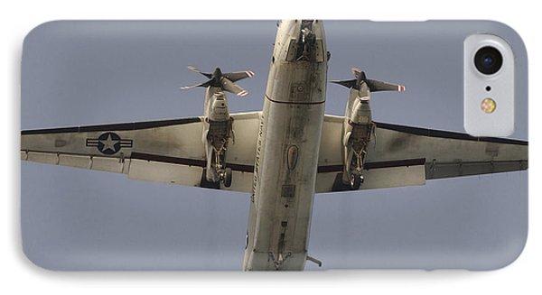 A C-2 Greyhound In Flight Phone Case by Stocktrek Images
