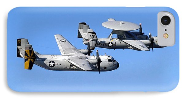 A C-2a Greyhound And A E-2c Hawkeye Phone Case by Stocktrek Images
