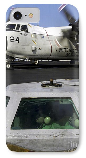A C-2a Greyhound Prepares For Launch Phone Case by Stocktrek Images