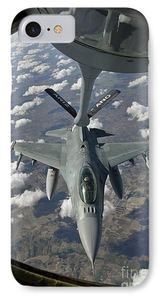 A Chilean Air Force F-16 Refuels Phone Case by Giovanni Colla