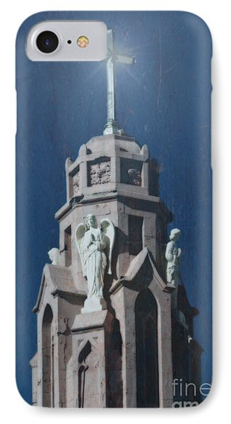 A Church Tower IPhone Case by Donna Greene