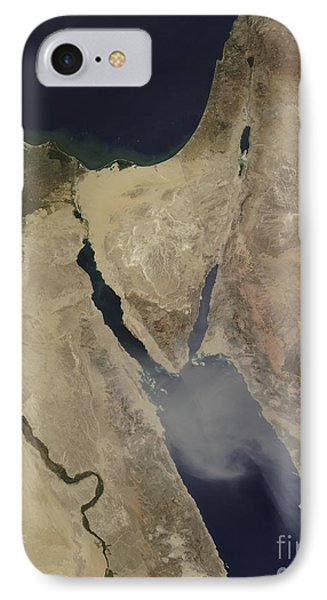 A Cloud Of Tan Dust From Saudi Arabia Phone Case by Stocktrek Images