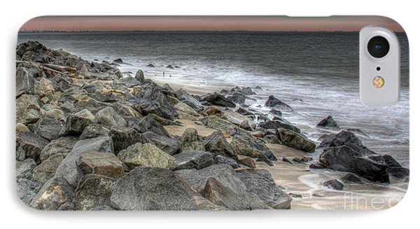 A Cold Day On A December Beach Phone Case by Lee Dos Santos
