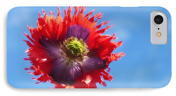 A Colorful Flower With Red And Purple Phone Case by John Short