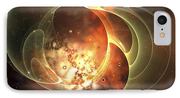 A Constellation Sits Inside Encircling Phone Case by Corey Ford