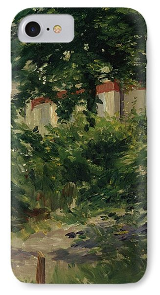 A Corner Of The Garden In Rueil Phone Case by Edouard Manet