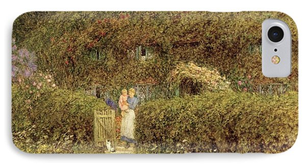 A Cottage At Freshwater Isle Of Wight IPhone Case by Helen Allingham