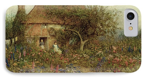 A Cottage Near Brook Witley Surrey Phone Case by Helen Allingham