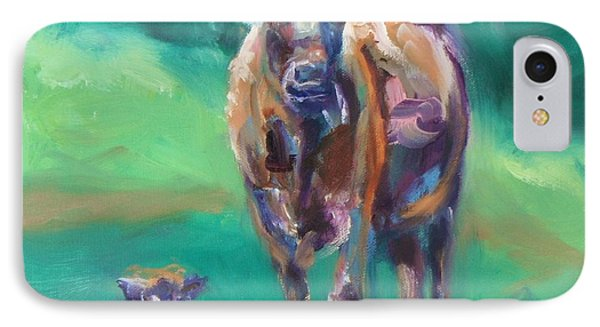 A Cow And Her Calf Phone Case by Donna Tuten