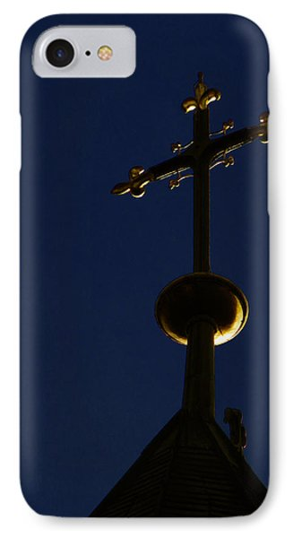 A Cross On St Vitus Cathedral Prague Phone Case by Christine Till
