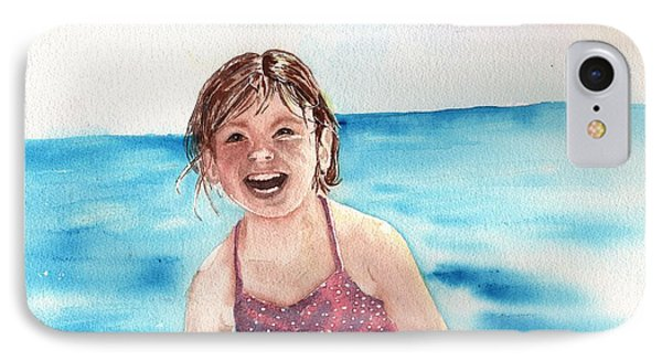 A Day At The Beach Makes Everyone Smile IPhone Case by Sharon Mick