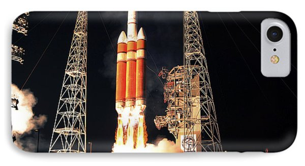 A Delta Iv Heavy Rocket Lifts Off Phone Case by Stocktrek Images