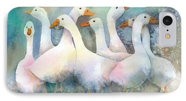 A Disorderly Group Of Geese Phone Case by Arline Wagner