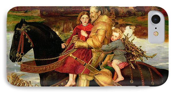 A Dream Of The Past IPhone Case by Sir John Everett Millais
