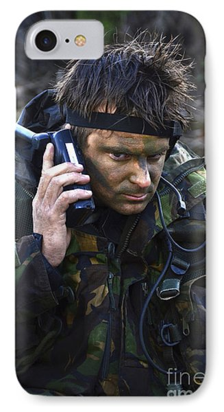A Dutch Patrol Commander Communicates Phone Case by Andrew Chittock