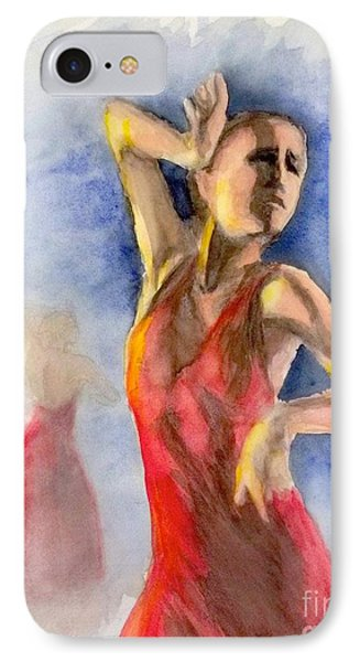 A Flamenco Dancer  2 IPhone Case by Yoshiko Mishina