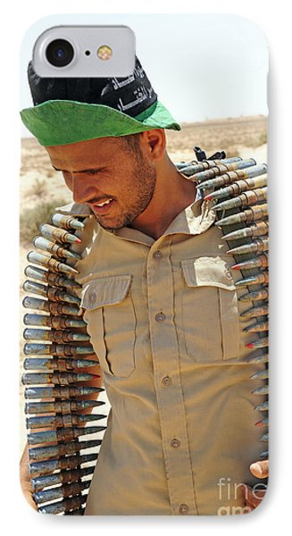 A Free Libyan Army Soldier With An Phone Case by Andrew Chittock