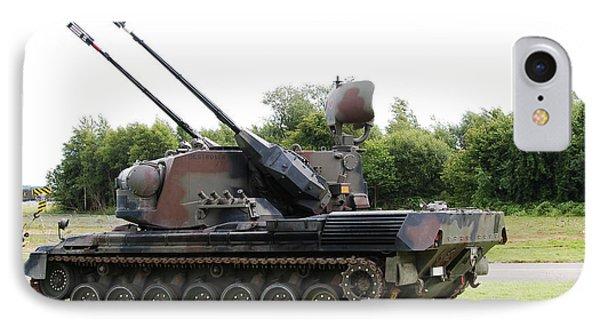 A Gepard Anti-aircraft Tank Phone Case by Luc De Jaeger