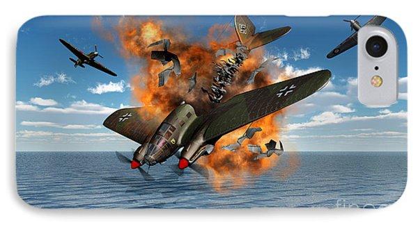 A German Heinkel Bomber Crashes Phone Case by Mark Stevenson