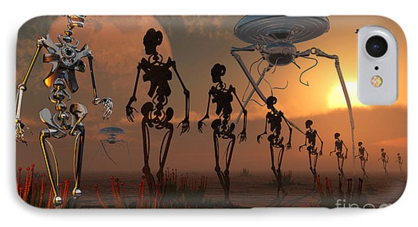 A Ghostly Robotic Army Is On The Move IPhone Case by Mark Stevenson