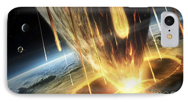 A Giant Asteroid Collides Phone Case by Tobias Roetsch