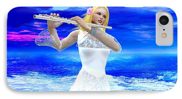 A Girl Playing Flute IPhone Case