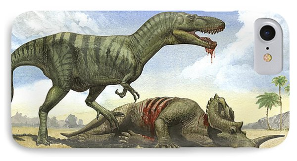 A Gorgosaurus Libratus Stands Phone Case by Sergey Krasovskiy