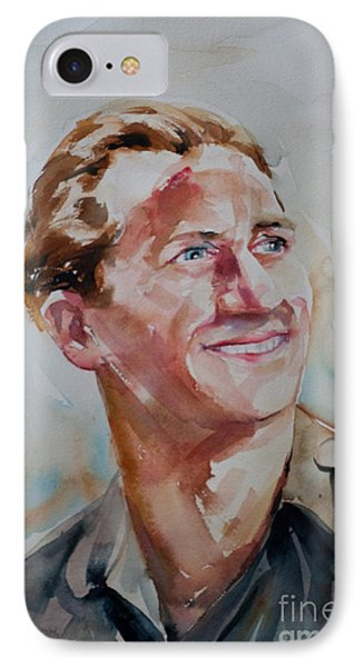 IPhone Case featuring the painting A Great Man by Barbara McMahon