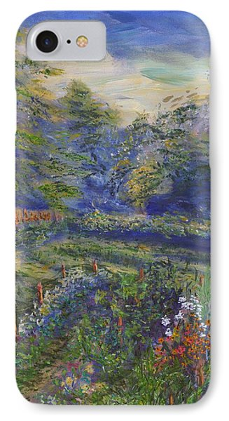 IPhone Case featuring the painting A Holiday In August Outside A Bed And Breakfast by Denny Morreale